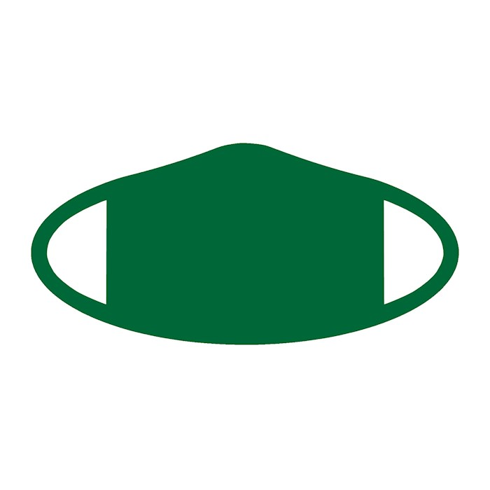 Face Mask-Green (One Size/Snug Fit)   SHOPtheWORD