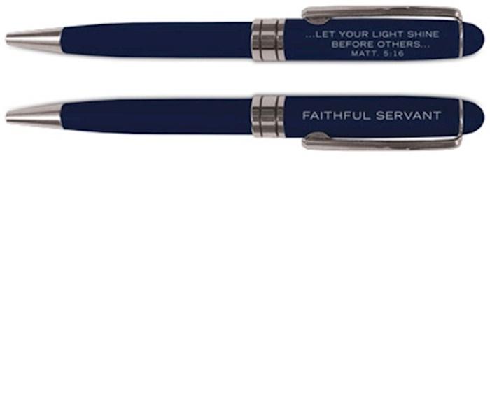 Pen-Simply Yours-Navy-Faithful Servant | SHOPtheWORD