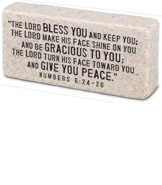 Plaque-Cast Stone-Scripture Block-Blessed (4 x 2 x 1) | SHOPtheWORD