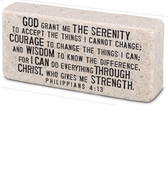 Plaque-Cast Stone-Scripture Block-Serenity (4 x 2 x 1) | SHOPtheWORD
