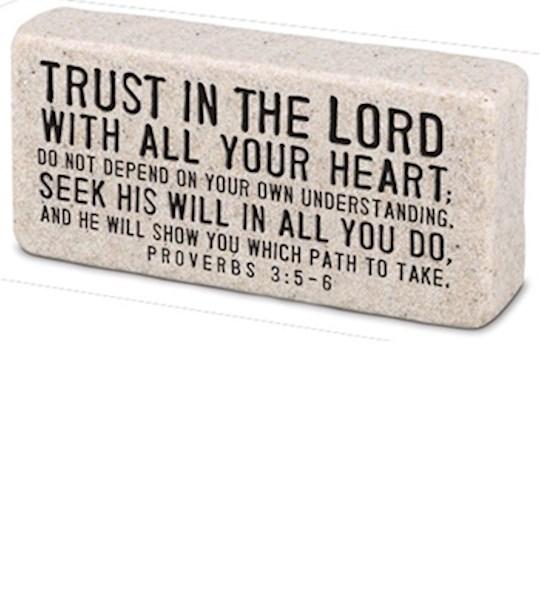 Plaque-Cast Stone-Scripture Block-Trust (4 x 2 x 1) | SHOPtheWORD