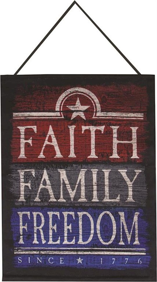 "Bannerette-Faith Family Freedom Tapestry (13"" x 18"") 