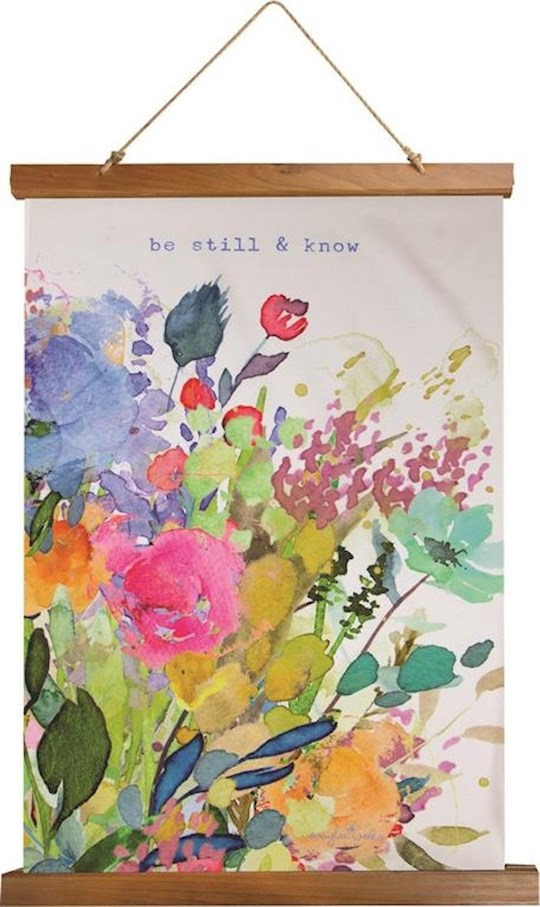 """Wall Hanging-Be Still & Know Watercolor (17"""" x 26"""") 