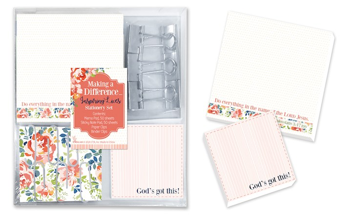 Stationery Set-Making A Difference/Do Everything... (14 Pc) (Col 3:17 ESV) | SHOPtheWORD