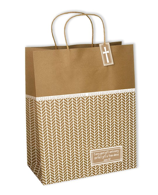 Gift Bag-With Tag & Notecard-Every Good And Every Perfect Gift (James 1:17 KJV) | SHOPtheWORD