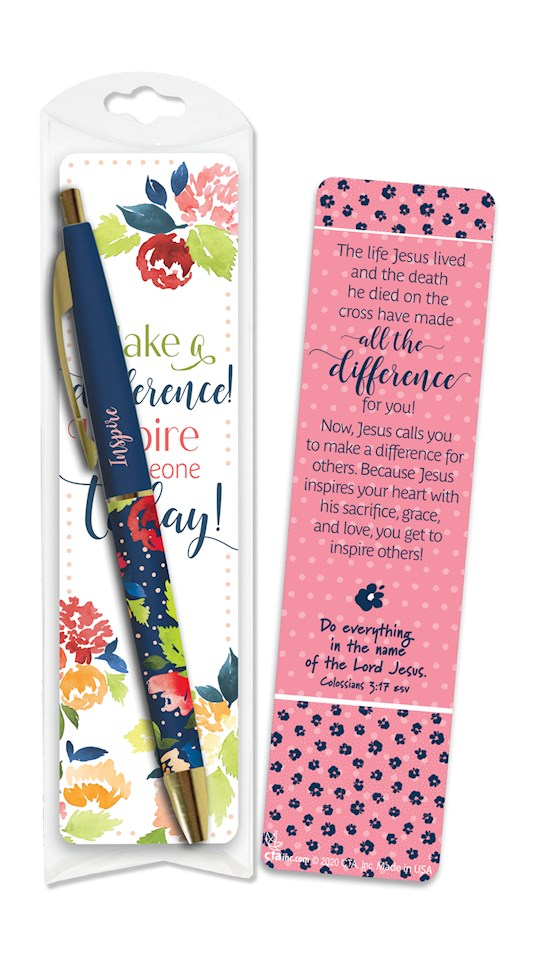 Pen & Bookmark Set-Making A Difference (Col 3:17 ESV) | SHOPtheWORD