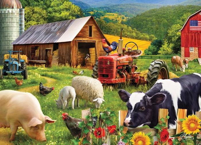 Jigsaw Puzzle-Farm Friends (1000 Pieces) | SHOPtheWORD