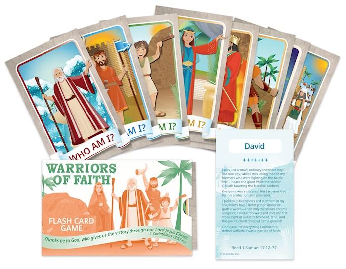 Flash Cards Game-Warriors Of Faith (ESV) | SHOPtheWORD