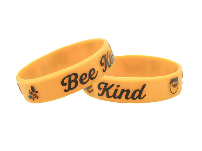 """Power Bands-Bee Kind (.5""""W 2"""" Dia) (Pack Of 12) 