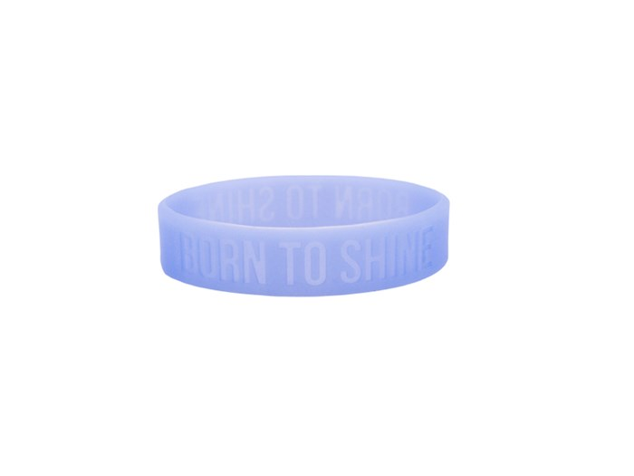 """Power Bands-Born To Shine/Glow In The Dark (.5""""W 2"""" Dia) (Pack Of 12) 