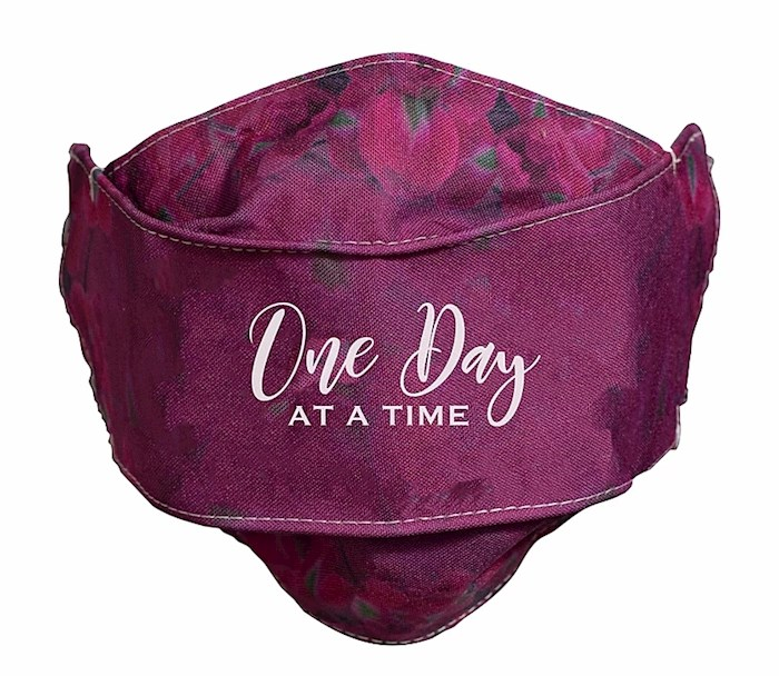 Face Mask-One Day At A Time-Burgundy | SHOPtheWORD