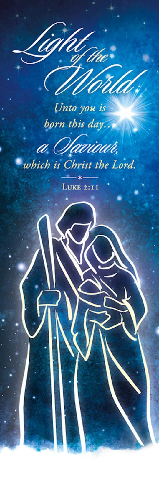 Bookmark-Light Of The World (Luke 2:11) (Pack Of 25) | SHOPtheWORD