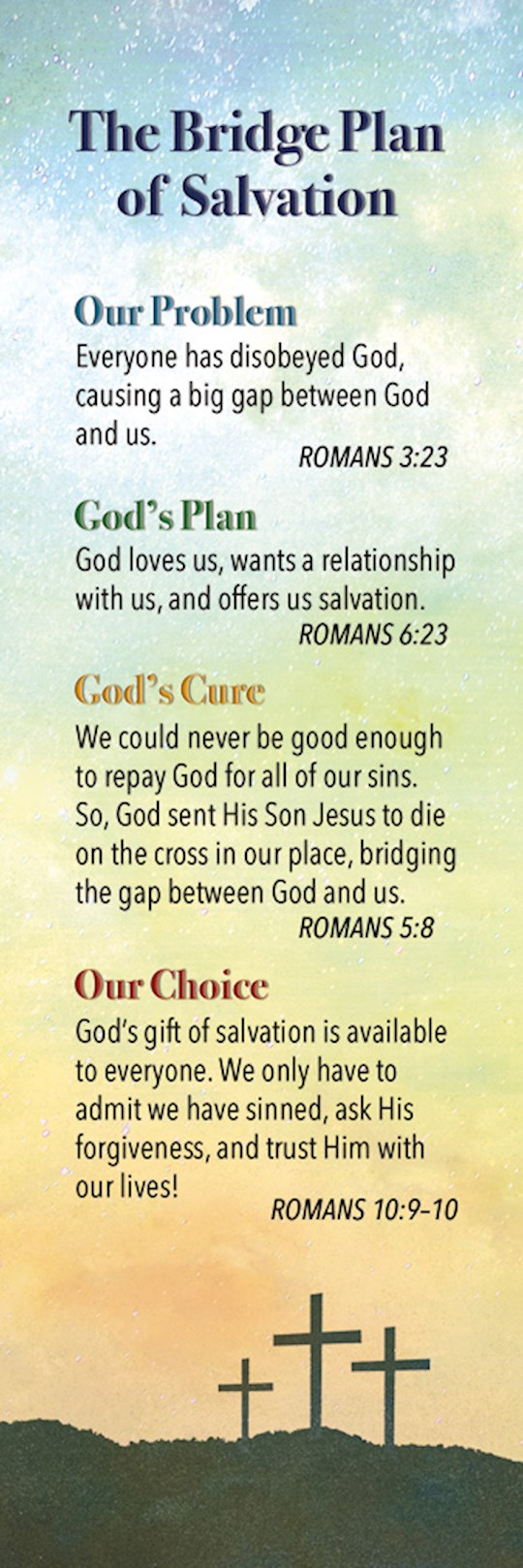 Bookmark-Plan Of Salvation (Romans 10:13) (Pack Of 25) | SHOPtheWORD