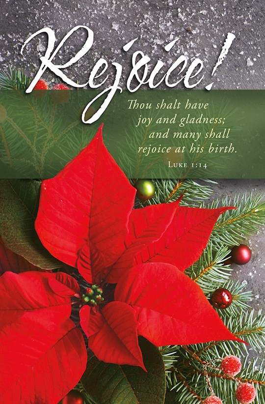 Bulletin-Rejoice! Many Shall Rejoice At His Birth (Luke 1:14) (Pack Of 100) | SHOPtheWORD