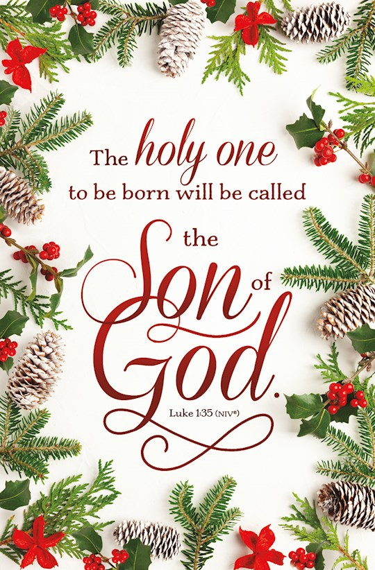 Bulletin-The Holy One... Will Be Called The Son Of God. (Luke 1:35, NIV) (Pack Of 100) | SHOPtheWORD