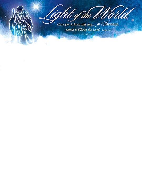 Letterhead-Light Of The World (Luke 2:11) (Pack Of 100) | SHOPtheWORD