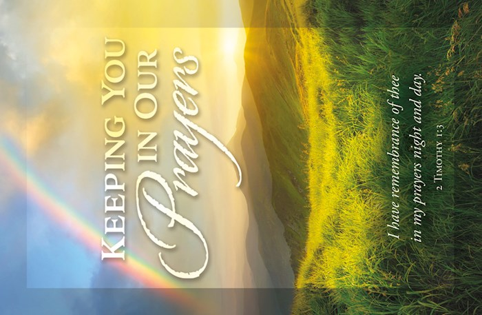 Postcard-Keeping You In Our Prayers (2 Timothy 1:3) (Pack Of 25) | SHOPtheWORD