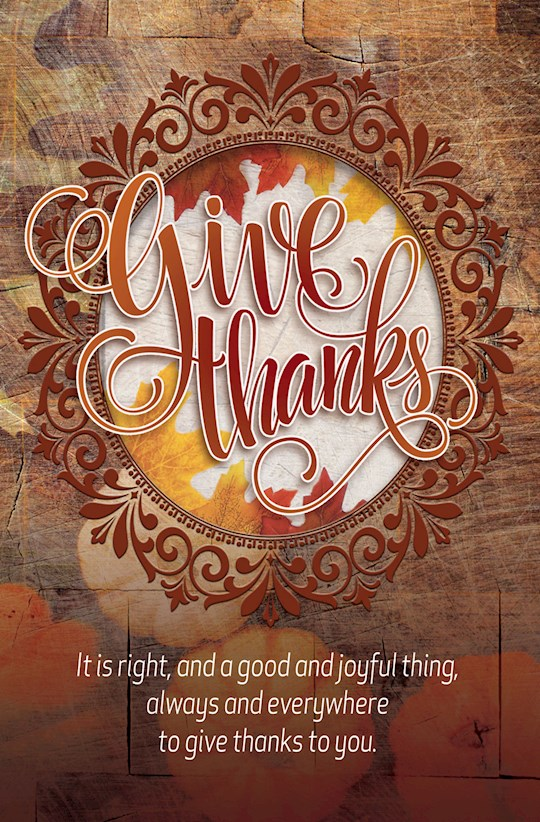 Bulletin-Give Thanks (Pack Of 50)-Legal Size | SHOPtheWORD
