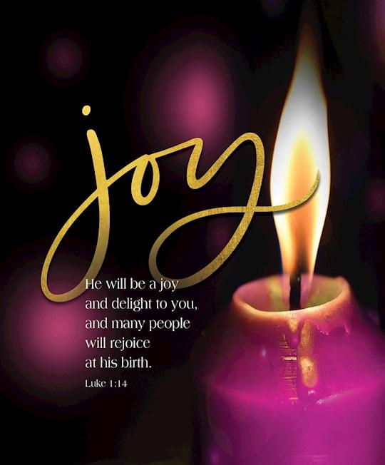Bulletin-Advent Week 3: Candle, Joy, Scripture (Luke 1:14) (Pack Of 50)-Legal Size | SHOPtheWORD