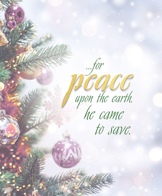Bulletin-Advent Week 2: Peace/Trees And Ornaments (Pack Of 50)-Legal Size (Aug) | SHOPtheWORD
