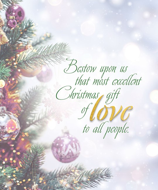 Bulletin-Advent Week 4: Love/Trees And Ornaments (Pack Of 50)-Legal Size | SHOPtheWORD