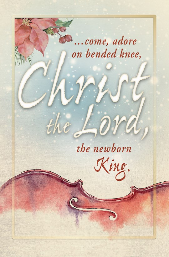 Bulletin-Come, Adore On Bended Knee Christ The Lord (Pack Of 50)   SHOPtheWORD