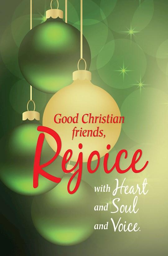 Bulletin-Good Christian Friends, Rejoice (Pack Of 50) | SHOPtheWORD