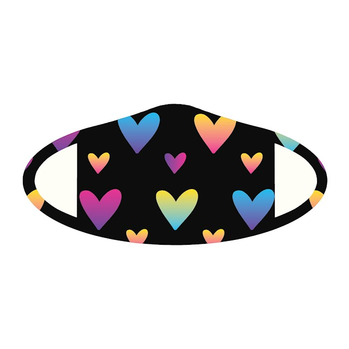 Face Mask-Hearts (One Size/Snug Fit) | SHOPtheWORD