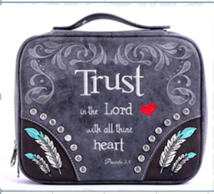Bible Cover-Trust In The Lord With All Thine Heart (Proverbs 3:5)-Black | SHOPtheWORD