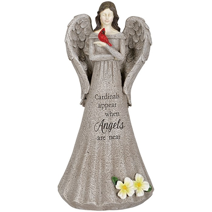 """Figurine-Cardinals Appear When Angels Are Near Angel (14"""") 
