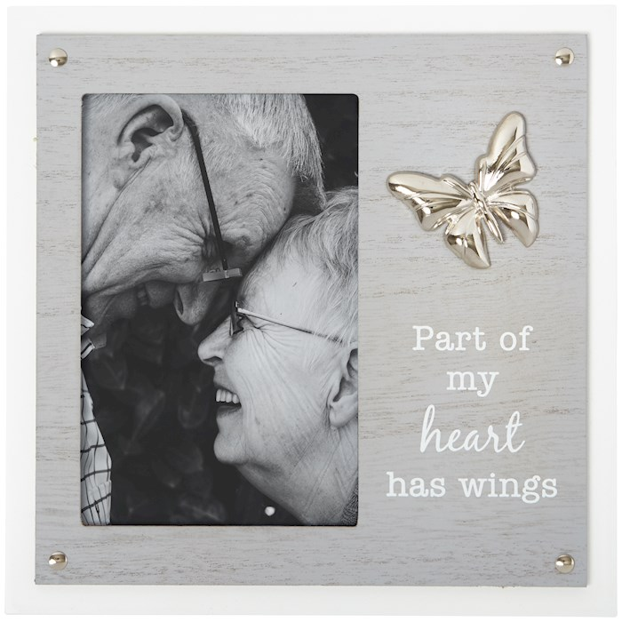 Frame-Part Of My Heart Has Wings (Holds 4 x 6 Photo) | SHOPtheWORD