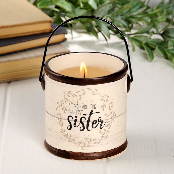 "Crock Candle-Sweetest Sister/Sweet Pear Crisp (3.5"" x 3.5"") 
