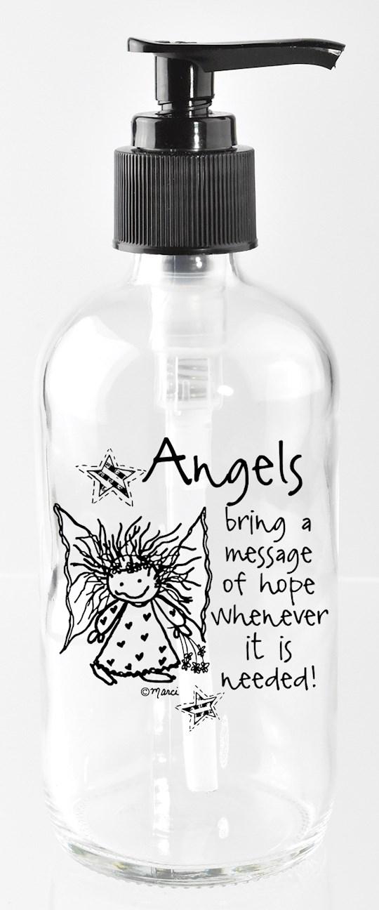 Soap Dispenser-Marci Art-Angels Bring A Message (8 Oz)   SHOPtheWORD