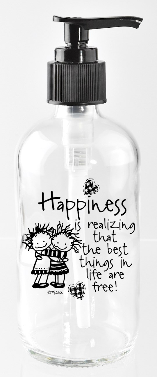Soap Dispenser-Marci Art-Happiness Is Realizing (8 Oz) | SHOPtheWORD