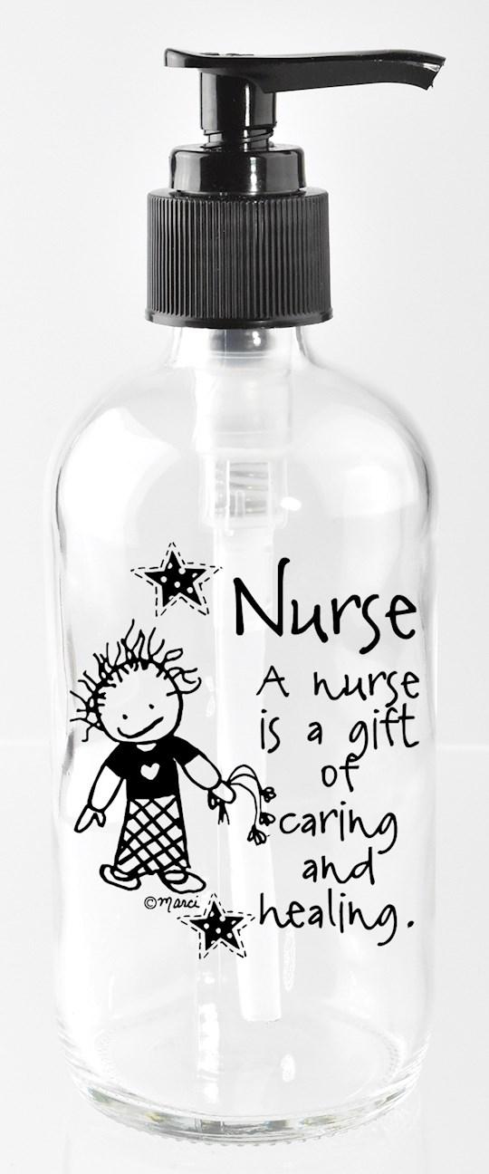 Soap Dispenser-Marci Art-Nurse..Is A Gift Of Caring (8 Oz) | SHOPtheWORD