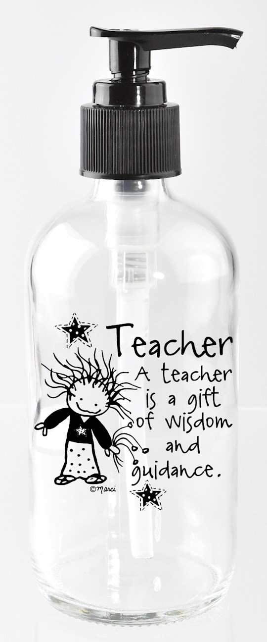 Soap Dispenser-Marci Art-Teacher..A Gift Of Wisdom  (8 Oz) | SHOPtheWORD