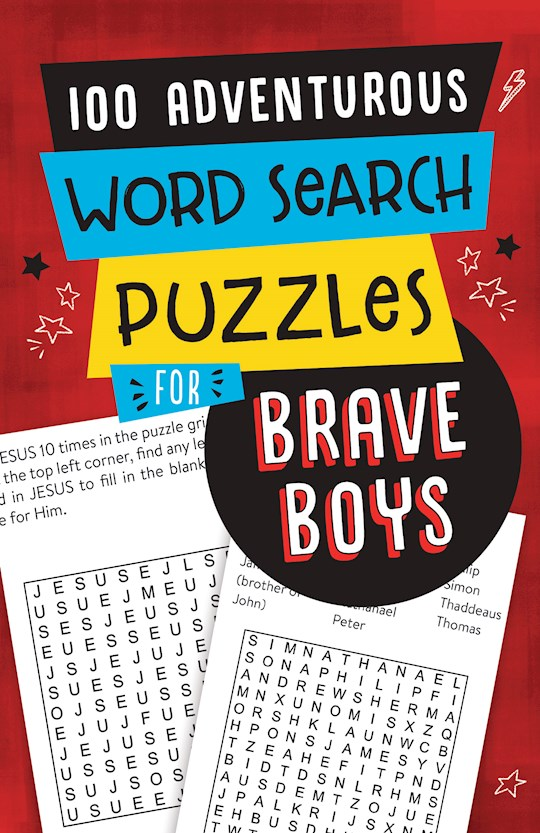 100 Adventurous Word Search Puzzles For Brave Boys by Barbour | SHOPtheWORD