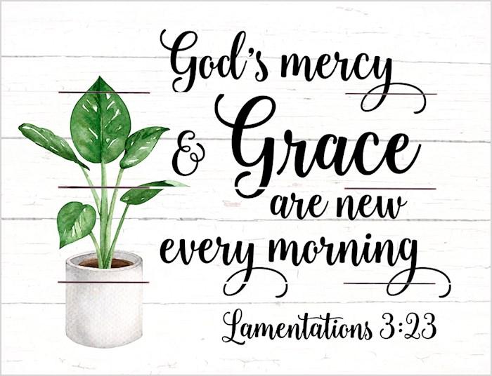 Pallet Art-God's Mercy And Grace (Lam 3:23) (9 x 12)   SHOPtheWORD