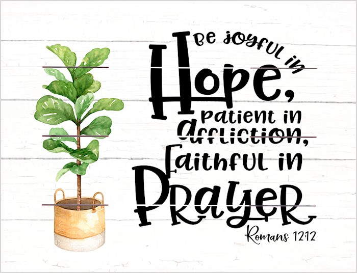 Pallet Art-Joyful In Hope (Romans 12:12) (9 x 12) | SHOPtheWORD