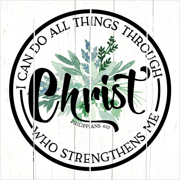 Pallet Art-I Can Do All Things Through Christ (Philippians 4:13) (10 x 10) | SHOPtheWORD