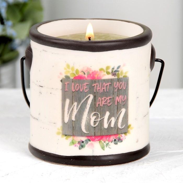 """Crock Candle-Mom/Basil & Lime (3"""" x 3.25"""")   SHOPtheWORD"""