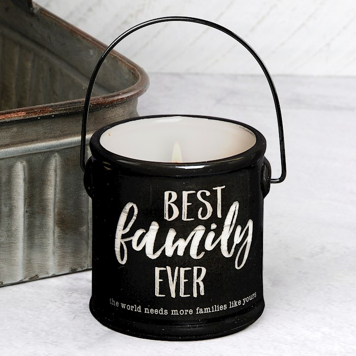 "Crock Candle-Best Family Ever/Buttered Maple Syrup (3"" x 3.25"") 