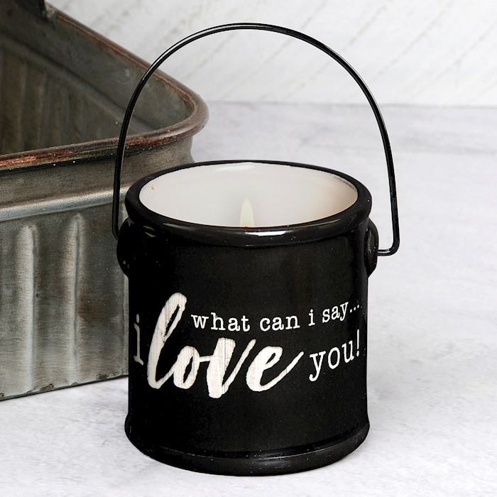 """Crock Candle-What Can I Say/Lemongrass & Lavender (3"""" x 3.25"""") 