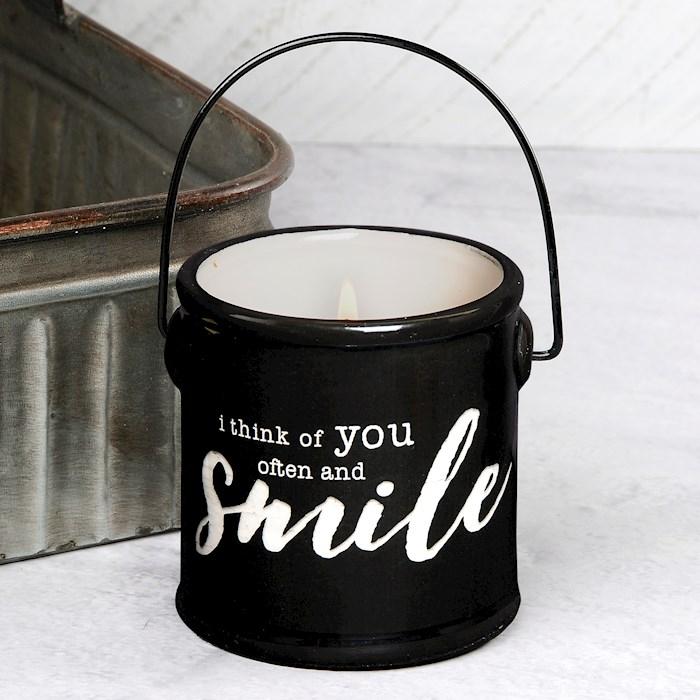 "Crock Candle-I Think Of You Often/Lemongrass & Lavender (3"" x 3.25"") | SHOPtheWORD"