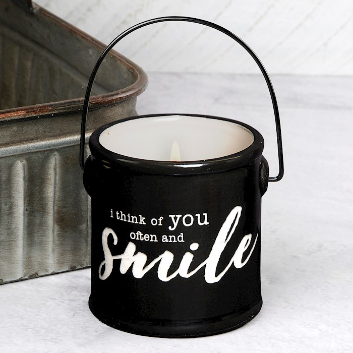 "Crock Candle-I Think Of You Often/Buttered Maple Syrup (3"" x 3.25"") 