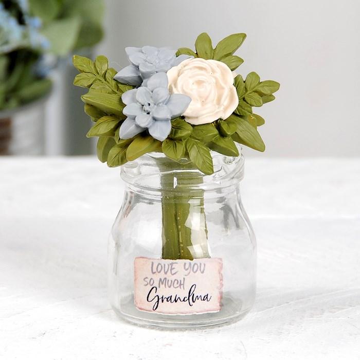 "Vase w/Flowers-I Love You So Much Grandma (2.50"" x 3.50"") | SHOPtheWORD"