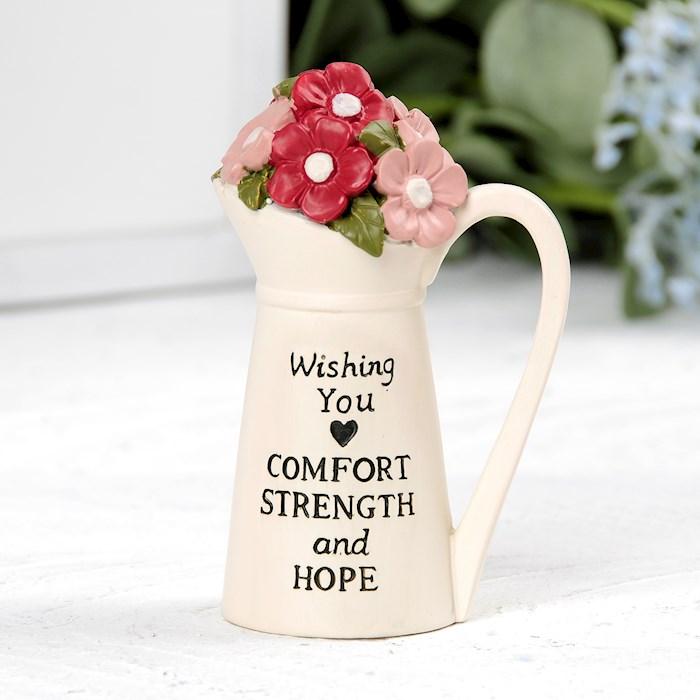 "Pitcher w/Flowers-Comfort Strength Hope (2.50"" x 3.50"") | SHOPtheWORD"