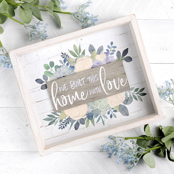 """Framed Sign-Built This Home With Love (9.5"""" x 8"""")   SHOPtheWORD"""