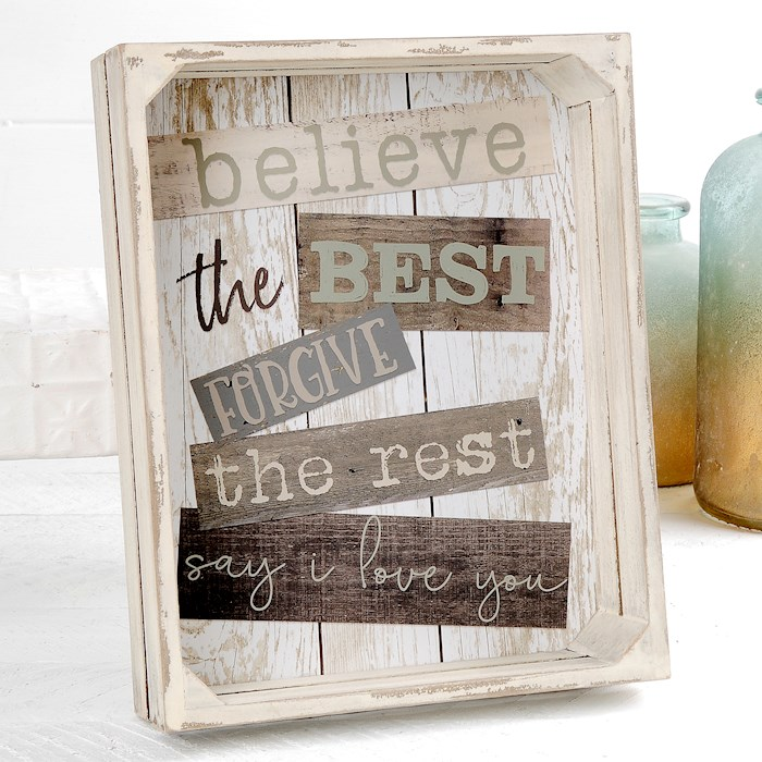 """Crate Sign-Believe The Best (9.5"""" x 11.75"""") 