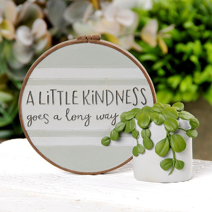 "Plaque w/Plant-A Little Kindness (3.75"" x 3.25"") 